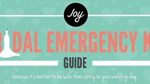 Bridal emergency kit infographic